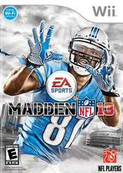 Madden NFL 13 for Wii last updated Dec 17, 2013