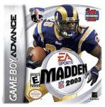 Madden NFL 2003 for Game Boy Advance last updated Jun 15, 2003
