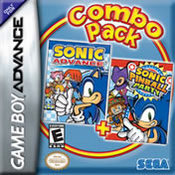 Sonic Advance + Sonic Pinball Party GBA