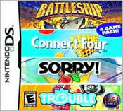 Battleship Connect 4 Sorry Trouble DS